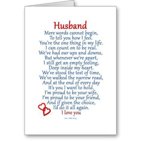 happy anniversary cards for husband   Husband Love Card