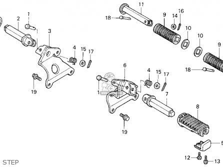 Honda Vf750c Magna 750c 1997 Usa parts list partsmanual ...