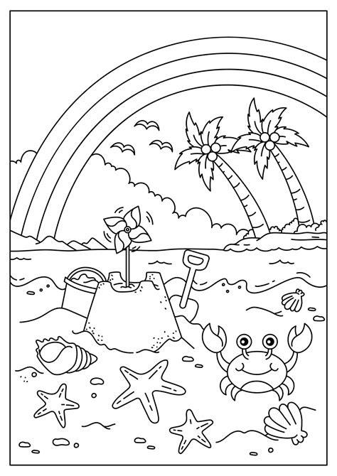 malvorlagen kinder strand  kostenlose malvorlagen ideen