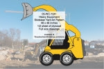 Heavy Equipment Skidsteer Wheel Loader Yard Art Woodworking Pattern - fee plans from WoodworkersWorkshop® Online Store - heavy equipment,skidsteers,yard art,painting wood crafts,scrollsawing patterns,drawings,plywood,plywoodworking plans,woodworkers projects,workshop blueprints