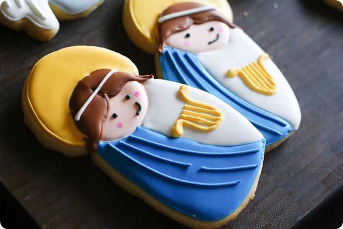 all saints day cookies, st. cecilia, patron saint of music...post features 5 saint cookie designs