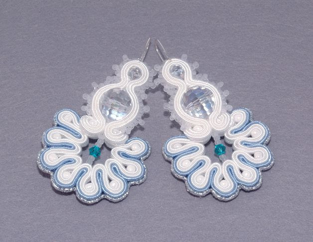 Small Earrings – earrings soutache - Snowflake – a unique product by KoralArt on DaWanda