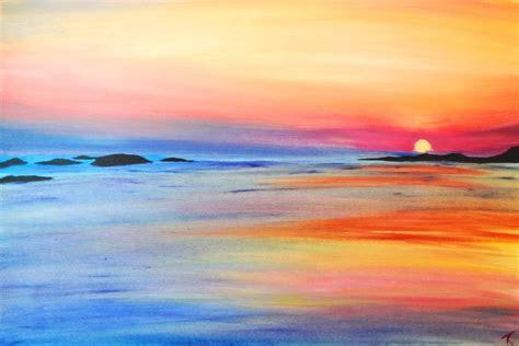 beach sunset painting sunset painting ocean painting