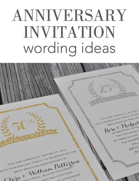 Wedding Anniversary Invitation Wording Ideas from