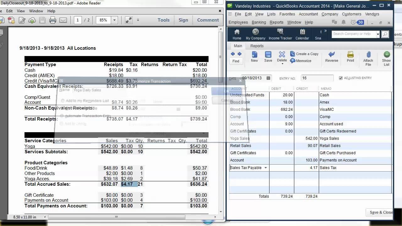 QuickBooks Video Tip: MINDBODY Online & QuickBooks-Recording Daily ...