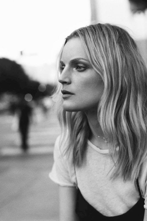 Le Fashion Blog Guinevere Van Seenus Black Cami White Tee Shirt Via Self Service Magazine