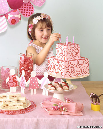 Indoor Party Themes. Pink Birthday Party. Surround your birthday girl