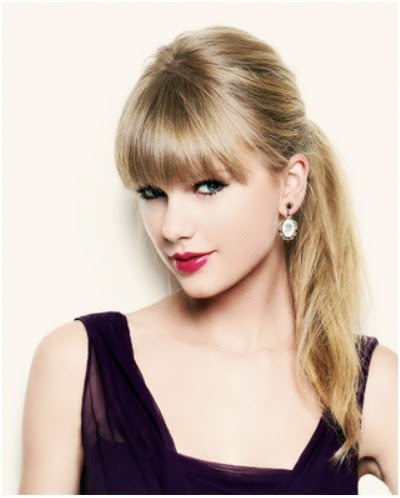 Ponytail  Hairstyles  with Blunt Bangs  Taylor Swift Hair