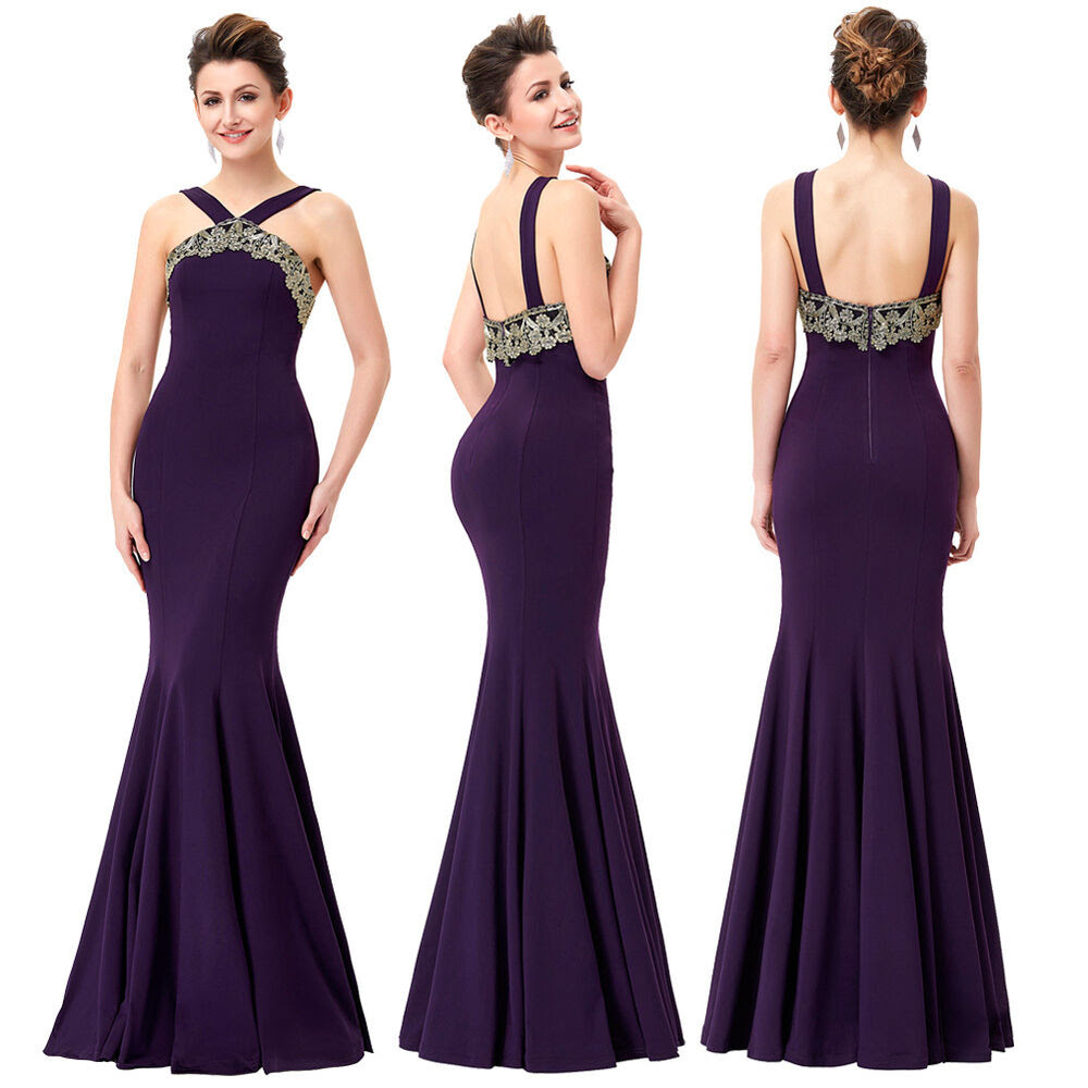 sexy long prom dress bridesmaid evening formal party