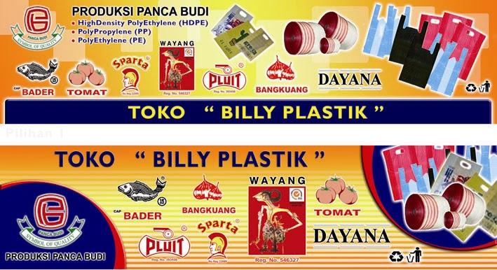 Desain Baliho Toko Plastik - contoh desain spanduk