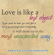 Nice Wisdom Quote Love Is Like A Lost Object Quotespicturescom