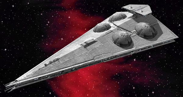 An illustration of the Imperial-class Interdictor Cruiser from the STAR WARS Expanded Universe.