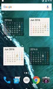 android 1 x 4 calendar widget