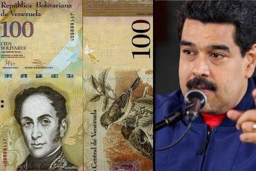 ¡URGENTE! Maduro ordena sacar de circulación billete de 100 Bs en 72 horas (+Video)