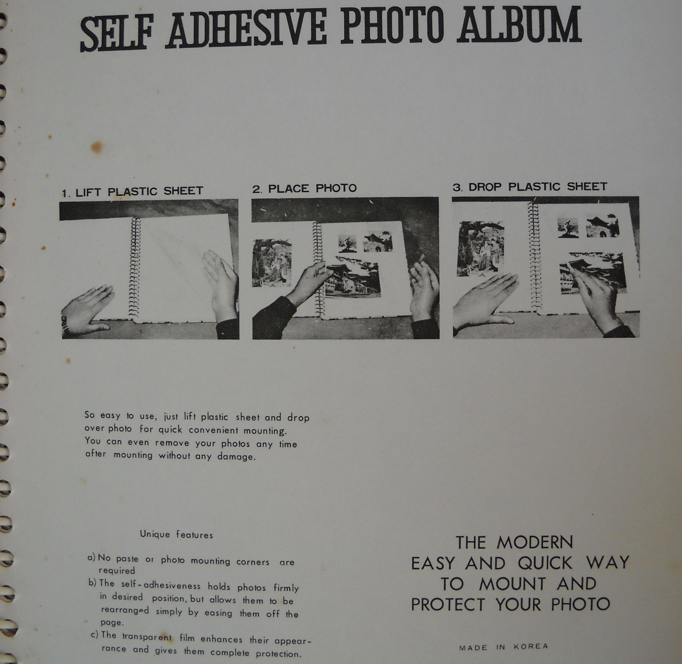 Removing Photos From Vintage Sticky Albums Book Repair Supply