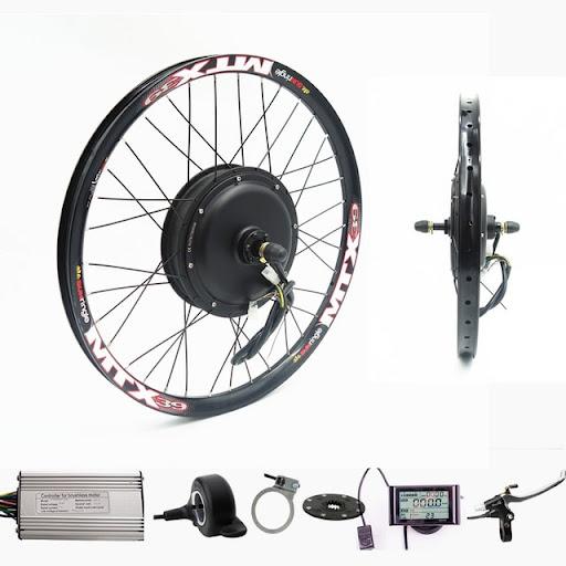 Fast shipping 36V1000W//48V 1200w Front Wheel Ebike Conversion Kit brakes lcd3
