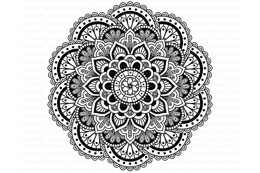 142+ Layered Mandala Letters Svg Free – SVG,PNG,DXF,EPS include