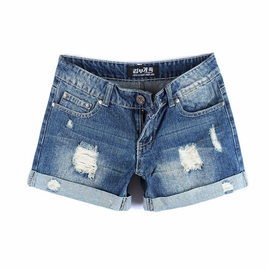 korean blue jean shorts for women