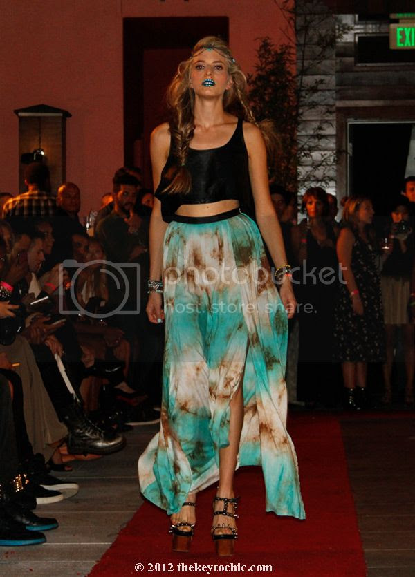 Gypsy Junkies spring 2013 clothing, Gypsy Junkies print maxi skirt