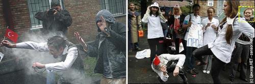 El linchamiento de un turista turco militante FEMENdéguisé