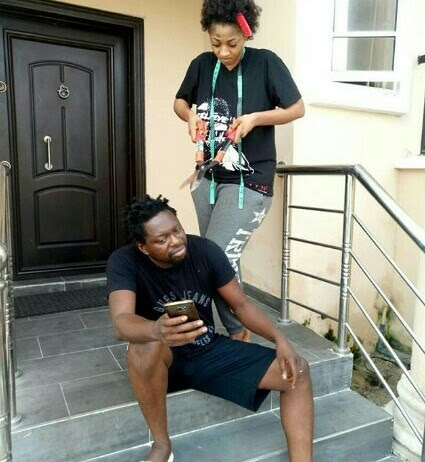COMEDIAN KLINT D DRUNK WIFE SHARES HILARIOUS PICTURES SHE TOOK WITH HER HUSBAND
