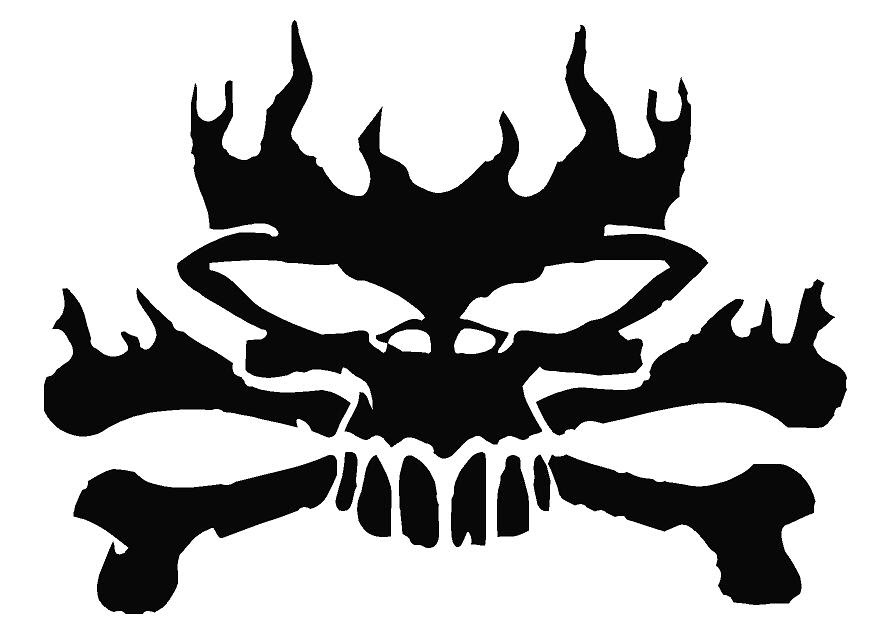 Images For Skulls With Flames Drawings Clip Art Library