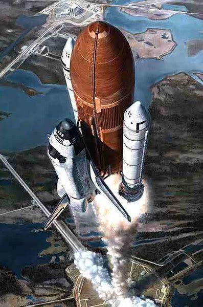 Space shuttle artwork #2, by Mark Waki.
