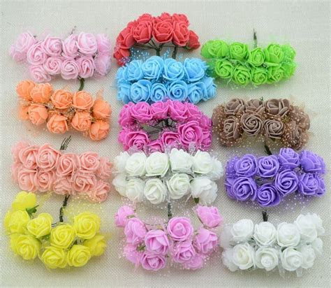 12pcs Cheap free shipping DIY mini roses artificial
