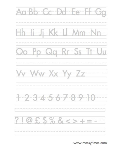 Alphabet Handwriting Worksheet | Learning Activities for Mila ...