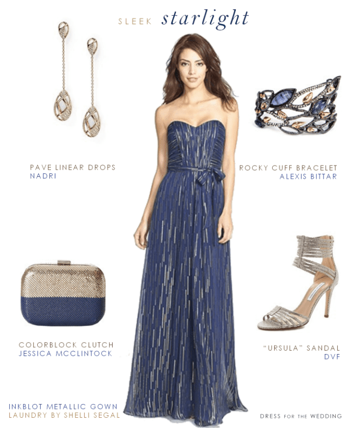 Midnight blue evening dresses