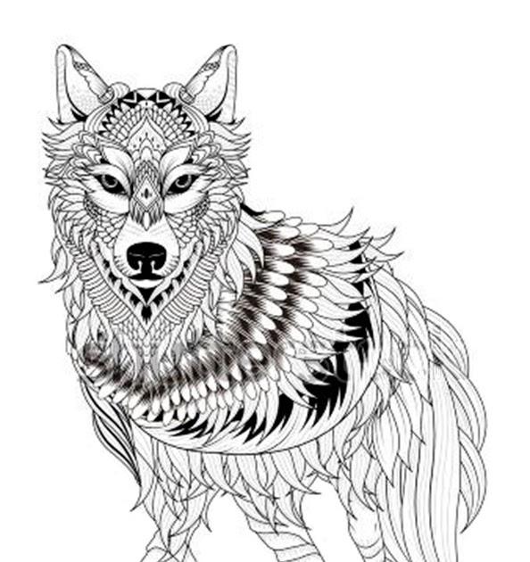 wolf ausmalbilder zum ausdrucken  wolf malvorlagen