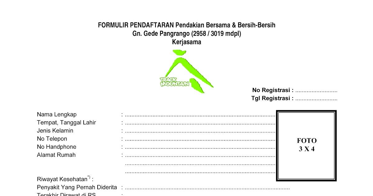 Contoh Formulir Futsal - Contoh 0917