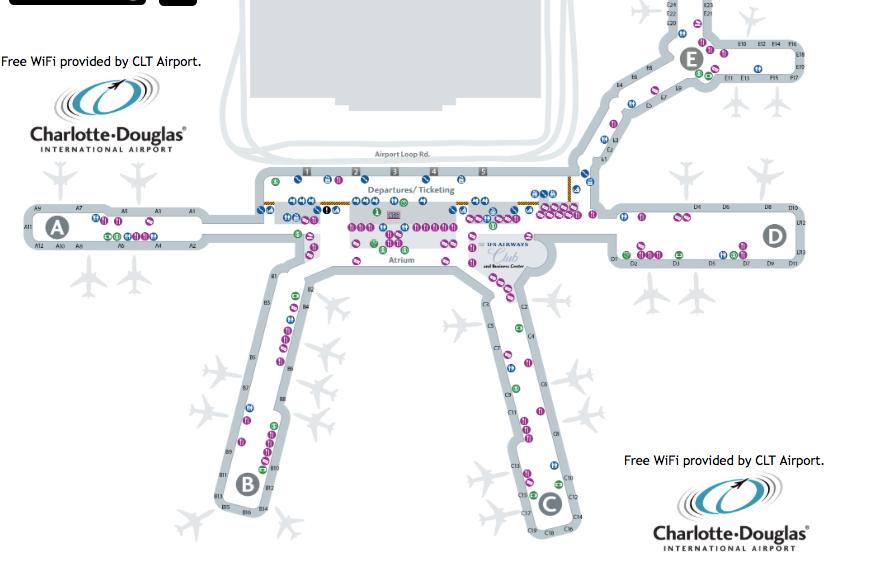 Clt Terminal Map - DEADRAWINGS