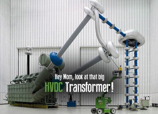 SIEMENS - 800,000 volt transformer for high-voltage direct current transmission