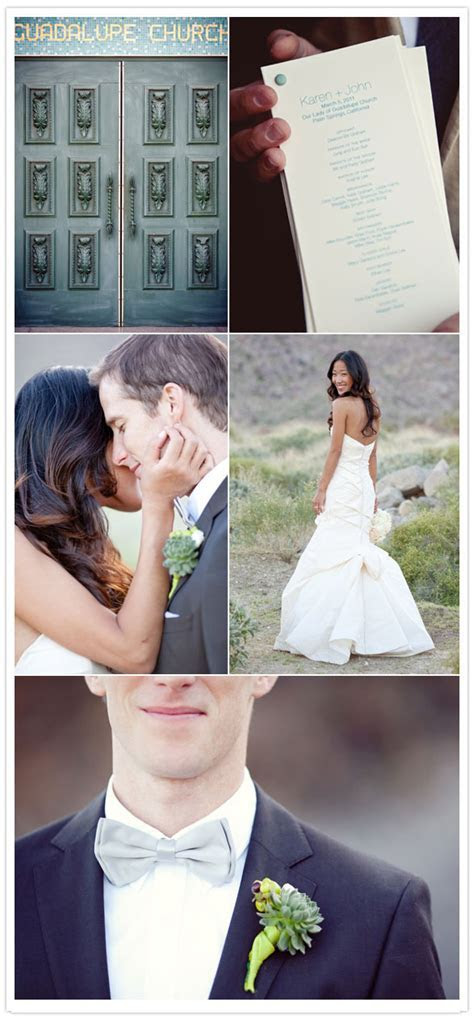 Pretty Palm Springs wedding: Karen   John   Real Weddings
