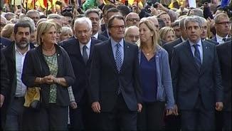 Rigau, Mas i Ortega dirigint-se al TSJC per declarar