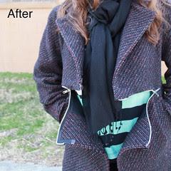 How to insert a horizontal-zipper into a coat