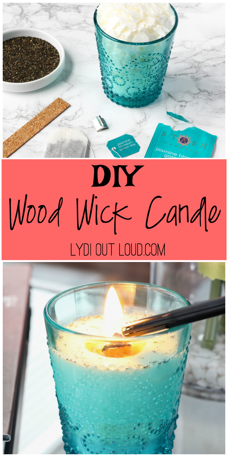 Simple DIY Wood Wick Candle - Lydi Out Loud