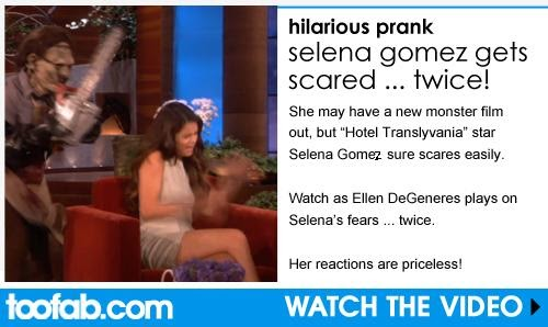Ellen DeGeneres Scares Selena Gomez … TWICE! LOL
