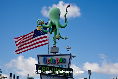 Ozzie the Octopus at E Washington Ave Octopus Car Wash, Madison, Wisconsin