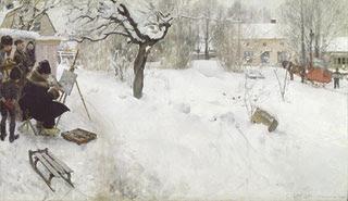 Open-Air Painter, Carl Larsson, 1886