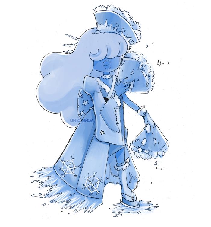 """""""30 Day Magical Girl Drawing Challenge - Day #12: Kimono """" Sapphire!"""