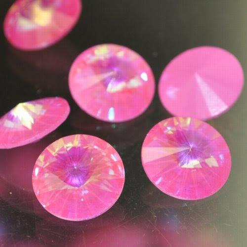 s33151 Swarovski Elements Rhinestones - 14 mm Rivoli (1122) Rhinestone - Ultra Pink (1)