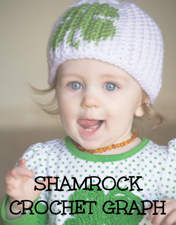 CROCHET GRAPH - Shamrock Color Grid for Crochet or Knit Beanies