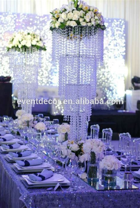 Large Crystal Chandelier Centerpieces For Weddings Table
