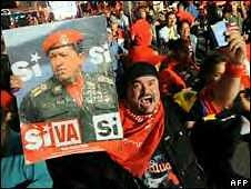 Venezuelan supporter of President Hugo Chavez during the election referendum on February 15, 2009. by Pan-African News Wire File Photos