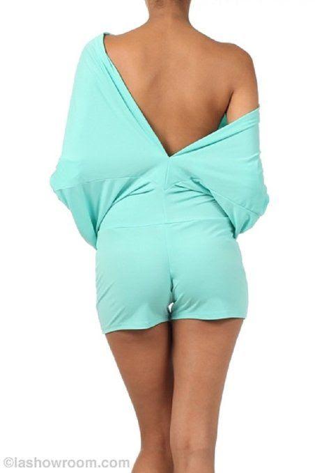 LJIF Women's Sexy YELLOW Reversible Dolman Sleeve Romper-small at Amazon Women's Clothing store