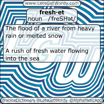 Freshet 01/18/2013 GFX Definition of the Day