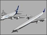 Hypersonic பயணிகள் விமானம் (ஏ2 - A2). இது மணிக்கு  கிட்டத்தட்ட 4000 மைல்கள் என்ற வேகத்தில் பறக்கக் கூடியதுடன் சுமார் 300 பயணிகளையும் காவிச் செல்லக் கூடியது. இவ்விமானத்தை வடிவமைப்பதில் பிரிட்டன் தற்போது ஈடுபட்டுள்ளது.இன்னும் 25 ஆண்டுகளுள் இவ்விமானம் பாவனைக்கு விடப்பட்டுமாம்.