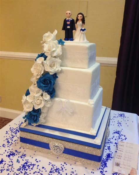 Chelsea Themed Wedding Cake   cake by Alli Dockree